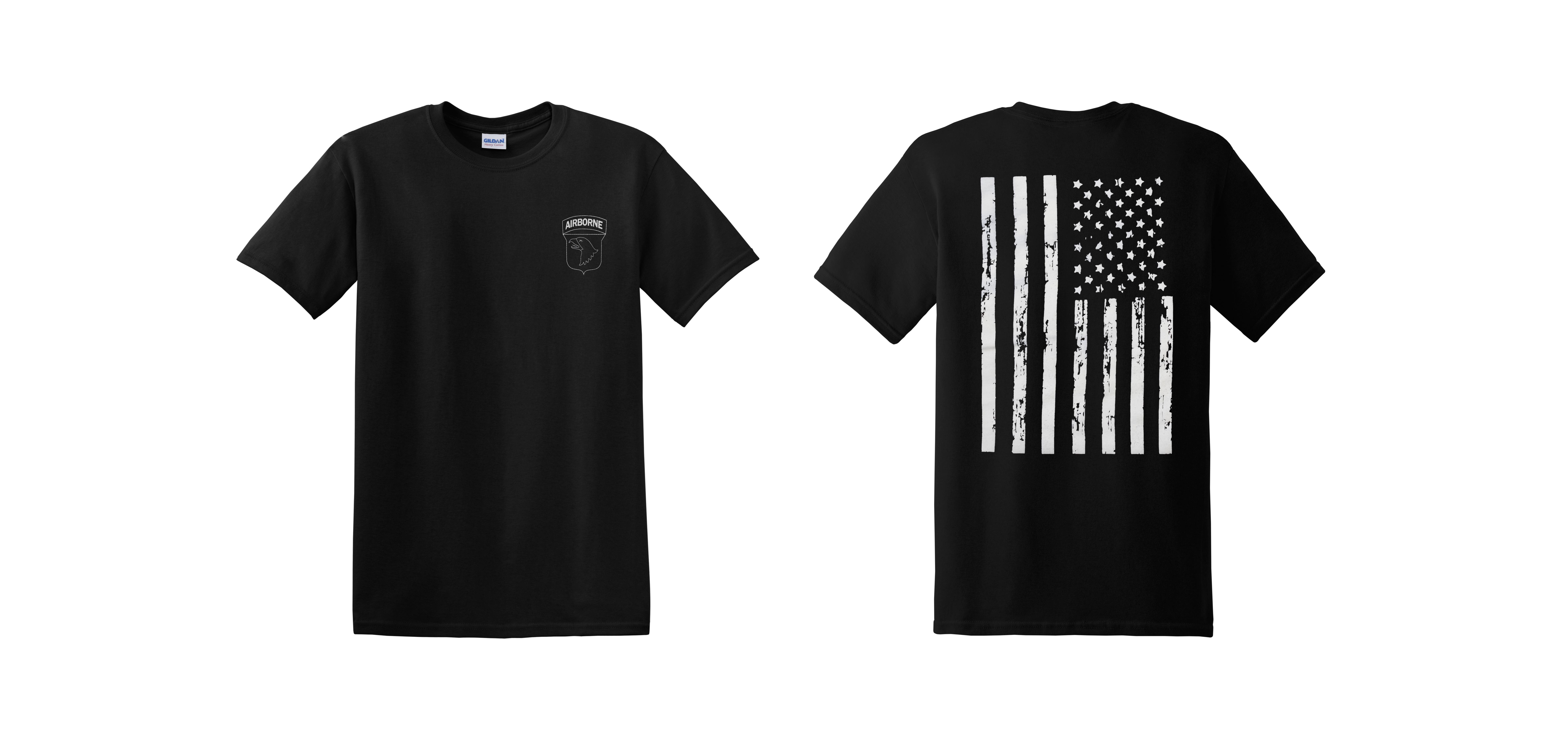 dff6c4b269df One Color Airborne Patch 100% Ringspun Cotton T-Shirt – D & D ...