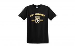 89e1fe58a032 Black Airborne 100% Ringspun Cotton T-Shirt
